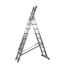 Scara aluminiu 3 tronsoane, 3x9 trepte, lungime max. 5.05 m