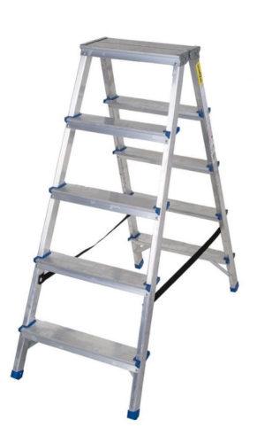 Scara aluminiu dubla 2x6 trepte, inaltime 1.2 m