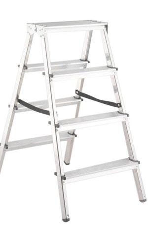 Scara din aluminiu cu urcare pe ambele parti si 4 trepte