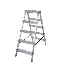 Scara din aluminiu cu urcare pe ambele parti si 5 trepte.