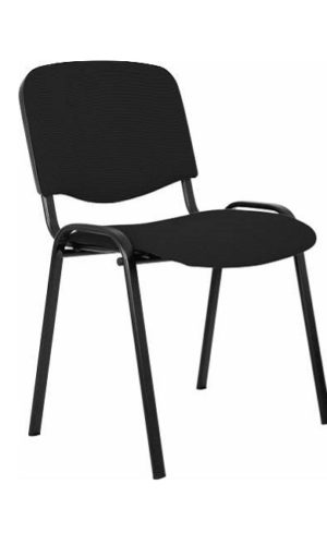 Visitor chair Alesia, upholstered with cloth, black