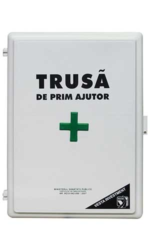 First aid kit VESTA, for fixed posts, 385x285x115mm, medical kit