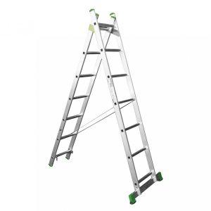 Scara aluminiu 2 tronsoane 2×6 trepte , lungime maxima 3 m