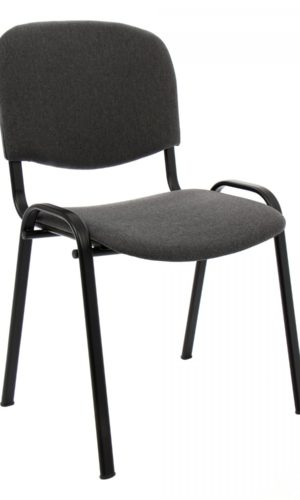 Visitor chair Alesia, upholstered with cloth, Gray