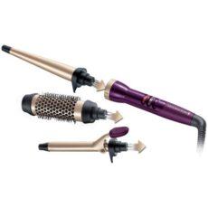 Ondulator Remington Your Style CI97M1, 3 accesorii, Invelis Ceramic, Anti-static, Mov/Auriu