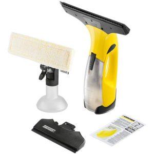Aspirator de geamuri Karcher WV 2 Premium, 25 min, pana la 75 mc, Rezervor apa 100 ml, Flacon de pulverizare: 250 ml, Galben