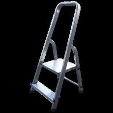 Scara aluminiu pliabila 2 trepte, produsa in UE