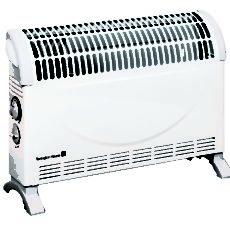 Convector electric de podea TH TURBO 2000W 3 trepte de putere, Ventilator incorporat cu functie Turbo, timer, termostat reglabil, Alb , Calorifer electric