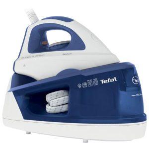 Statie de calcat Tefal Maxi Purely & Simply SV5030, Talpa Ceramica, 2200 W, 1.2 l, 100 g/min, Alb/Albastru