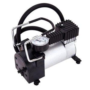 Compresor auto Metalic 965kPA, 35 l/min, 12V, mufa auto inclusa, manometru + 3 adaptoare: masina, bicicleta, mingi