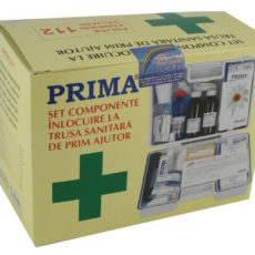 Kit inlocuire componente Trusa Sanitara prim ajutor de perete VETRO, valabilitate 24 luni, trusa medicala fixa sau Detasabila